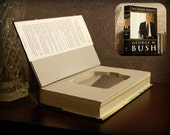 Hollow Book Safe & Flask - George W. Bush Decision Points (Magnetic Closure)