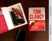 Hollow Book Handgun Safe | Under Fire | Magnetic Closure