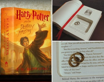 """Hollow Book Safe Ring Bearer - Harry Potter and the Deathly Hallows """"Always quote"""" - Secret Book Safe"""