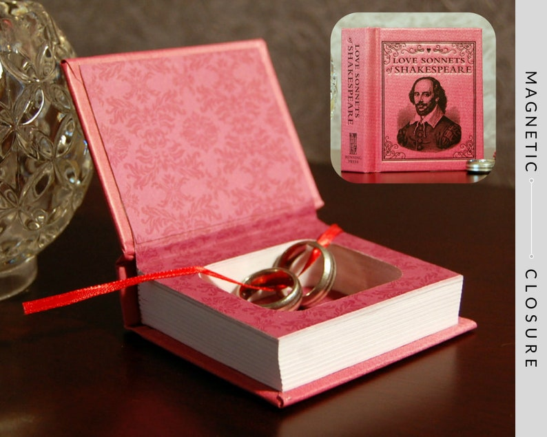 Hollow Book Safe  Mini Love Sonnets of Shakespeare  Magnetic image 0