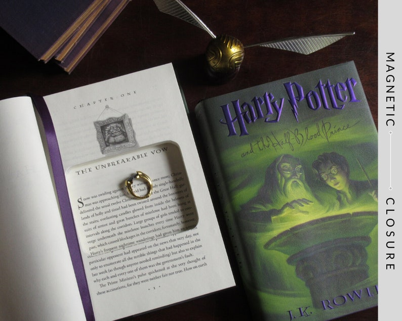 Hollow Book Safe Ring Bearer  Harry Potter and the Half-Blood image 0