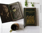 Hollow Book Safe | Leaves of Grass Leatherbound | Magnetic Closure