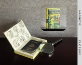 Hollow Book Safe | Vintage 1963 Nancy Drew: The Moonstone Castle Mystery | Magnetic Closure