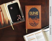 Dice Tray Hollow Book | Dune Leatherbound | Magnetic Closure