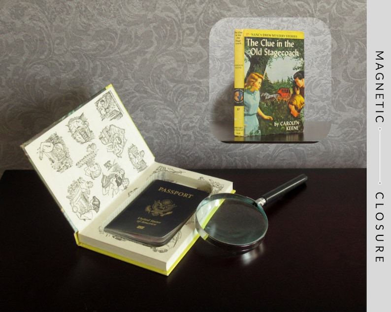 Hollow Book Safe  Vintage 1960 Nancy Drew: The Clue in the image 0