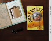 Hollow Book Safe & Flask | Jimmy Buffett | Magnetic Closure