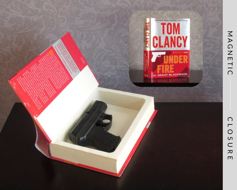 Hollow Book Subcompact Gun Safe  Under Fire  Magnetic image 0