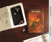 Dice Tray Hollow Book | Vintage 1995 Dragonlance: Dragons of Summer Flame | Magnetic Closure