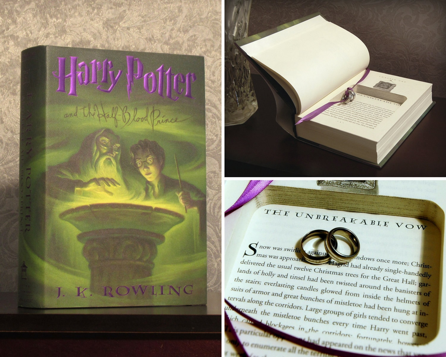 Hollow Book Safe Ring Bearer Harry Potter and the Half-Blood | Etsy