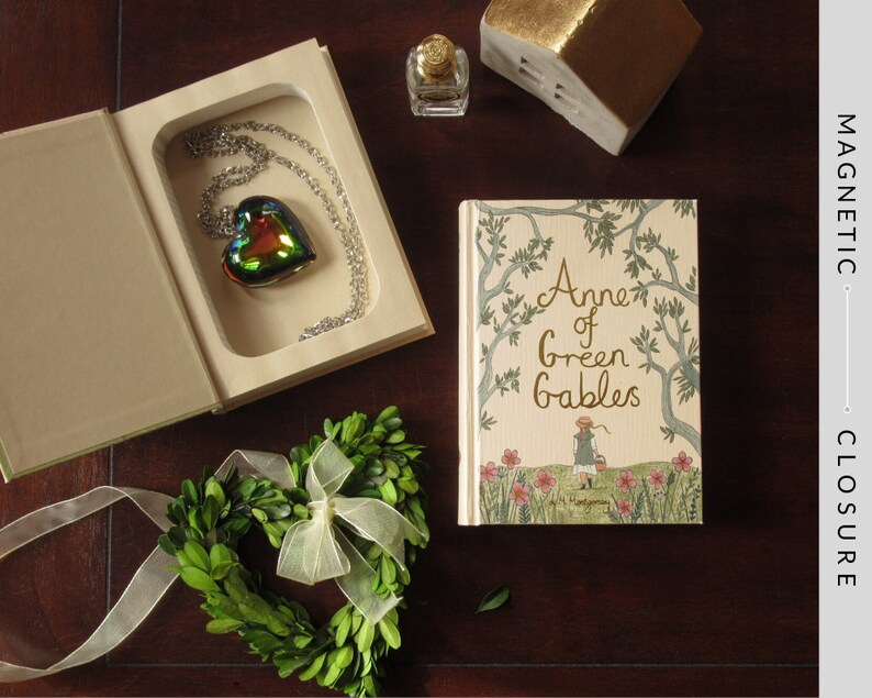 Hollow Book Safe  Anne of Green Gables  Magnetic Closure image 0