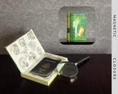 Hollow Book Safe | Vintage 1968 Nancy Drew: The Sign of the Twisted Candles | Magnetic Closure