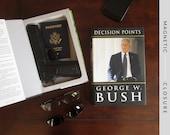 Hollow Book Compact Handgun Safe | Decision Points by George W. Bush | Magnetic Closure