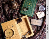 Hollow Book Safe | Vintage Great Cases of Sherlock Holmes Franklin Library | Magnetic Closure