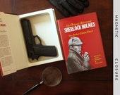 Hollow Book Gun Safe | Sherlock Holmes | Magnetic Closure