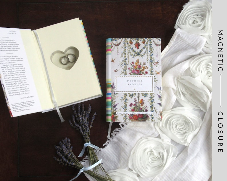 Hollow Book Safe with Heart  Wedding Stories with Dust-jacket image 0