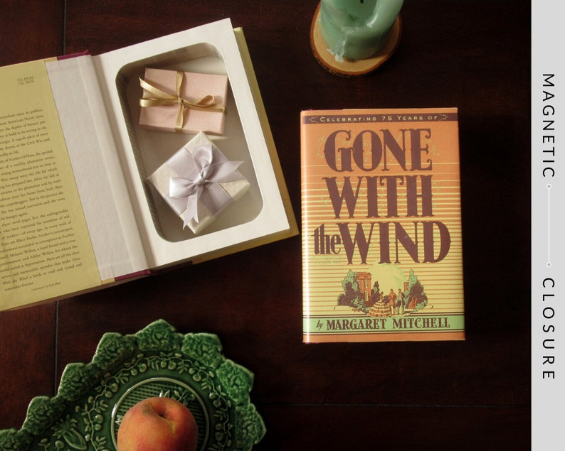 Hollow Book Safe  Gone with the Wind  Magnetic Closure image 0