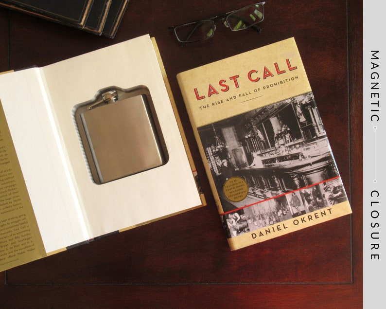 Hollow Book Safe & Flask  Last Call: The Rise and Fall of image 0