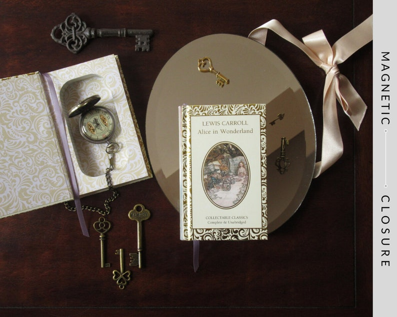 Hollow Book Safe with Heart  Alice in Wonderland Pocket Size image 0