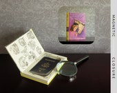 Hollow Book Safe | Vintage 1969 Nancy Drew: The Quest of the Missing Map | Magnetic Closure