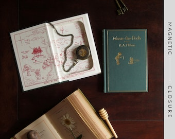 Hollow Book Safe | Winnie-the-Pooh Replica of Classic 1926 Edition | Magnetic Closure