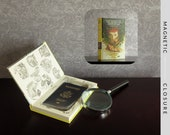 Hollow Book Safe | Vintage 1972 Nancy Drew: The Secret of Mirror Bay | Magnetic Closure
