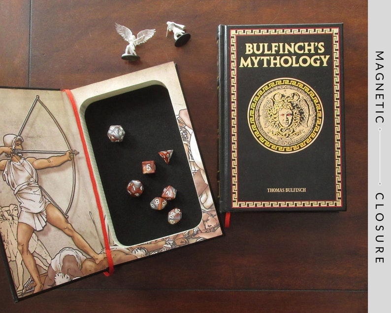 Dice Tray Hollow Book  Bulfinch's Mythology  Magnetic image 0