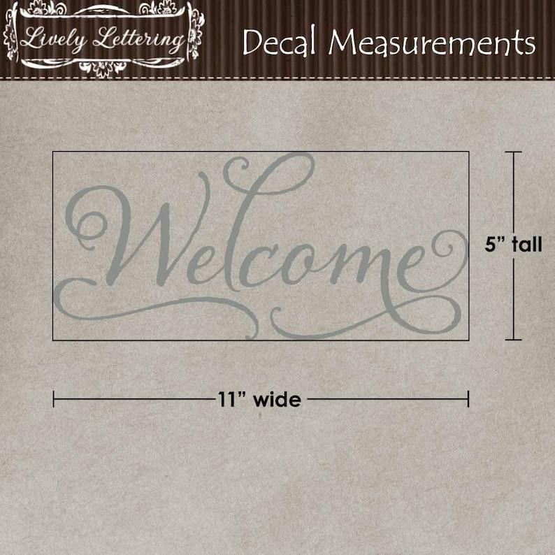Milk Can decal Front Door Welcome Welcome decal Welcome vinyl decal Porch decor vinyl lettering