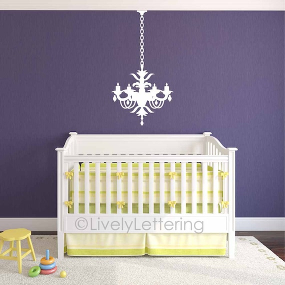 Chandelier decal, Wall decal for girl, Elegant girls bedroom decal, Dining  Room decor, Living Room decal, wall sticker, vinyl lettering