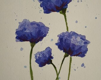 Blue Carnations