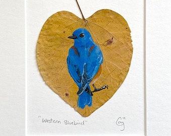 Original Painting - Western Bluebird