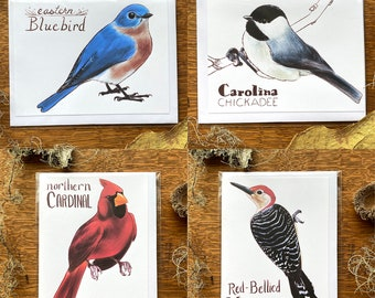 Blank Bird Card with Envelope - (One) 3.5 x 4.875 A1