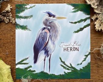 Great Blue Heron 8 x 8 Print