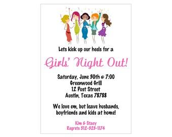 Girls Night Out Invitation Etsy