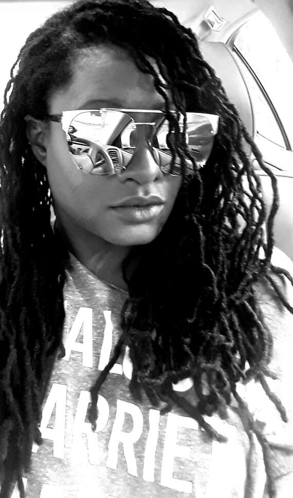 Oversized Mirrored Sunglasses