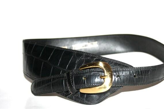 Vintage Alligator Belt Bonwitt Teller Belt Size Small
