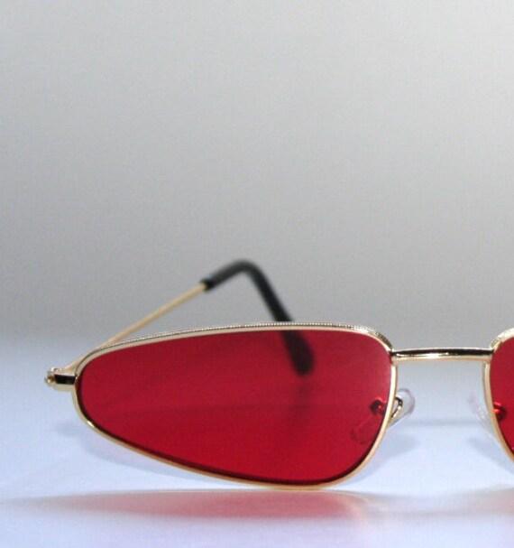 Killa Cool Red Oval Shaped Sunglasses