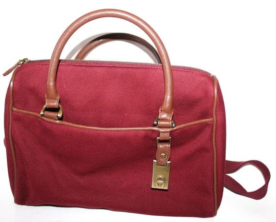 Vintage Aigner Satchel Handbag