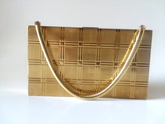 Vintage Evans Gold Clutch Art Glam 40s Cigarette Case