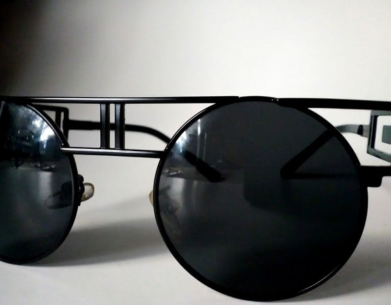 Black Gothic Sunglasses Eyelet Design