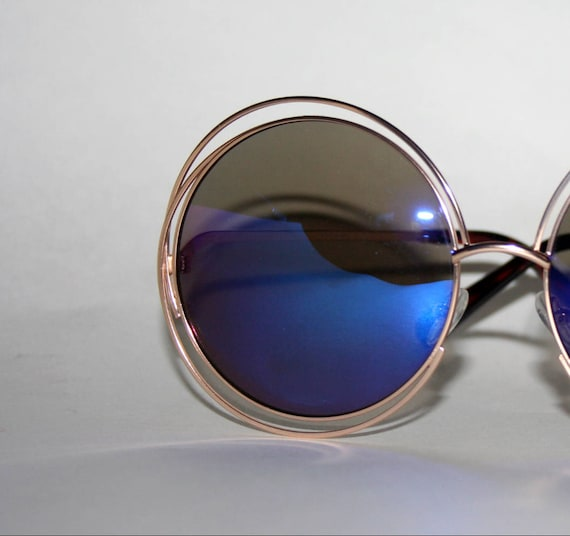 Round Sunglasses Halo Frame Rockerchic