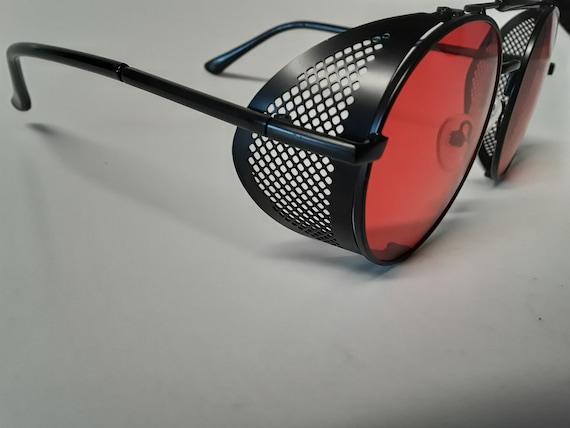 Red Steampunk Goggles Sunglasses