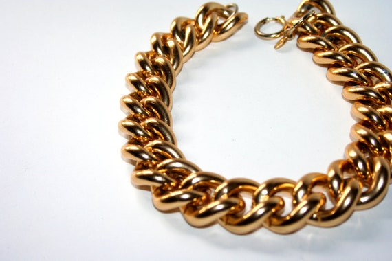 Erwin Pearl Chain Necklace Chunky Gold Chain Link