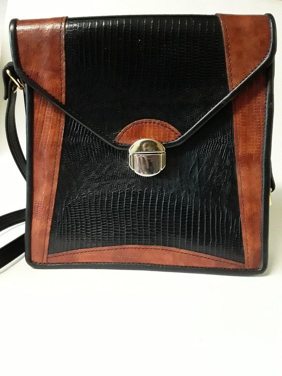 Vintage Alligator D Brev Handbag