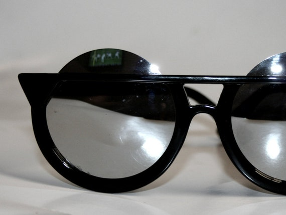 Round Oversized Sunglasses Mirror Lens
