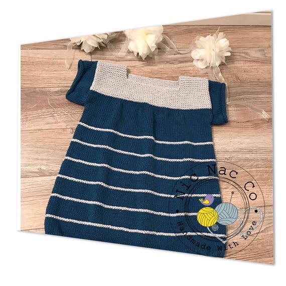 robe printemps t toute mignonne 100 coton ray e bleue et etsy. Black Bedroom Furniture Sets. Home Design Ideas