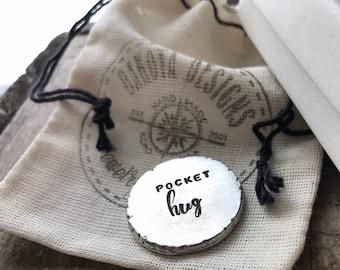 Pocket Hug Gift personalized pocket hug hand stamped with love pocket token of love