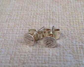 Tiny Silver Stud Earrings Sterling SIlver Forged Textured Stud Earrings Sterling Earrings Sterling SIlver Earrings