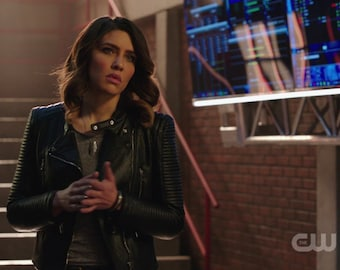 Bracelet Seen on Arrow worn by Dinah Drake played by Juliana Harkavy Leather and riveted sterling silver