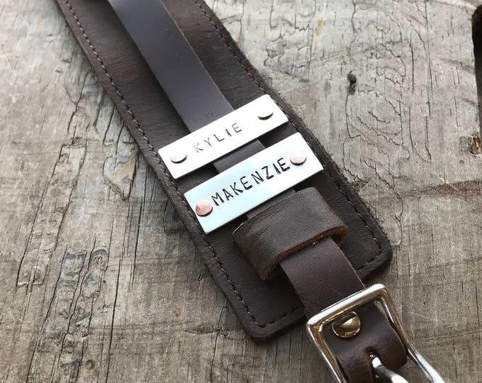Mens Personalized Dad Cuff Bracelet Sterling Silver and Leather Name Bracelet Custom Men's Bracelet DAD Gift