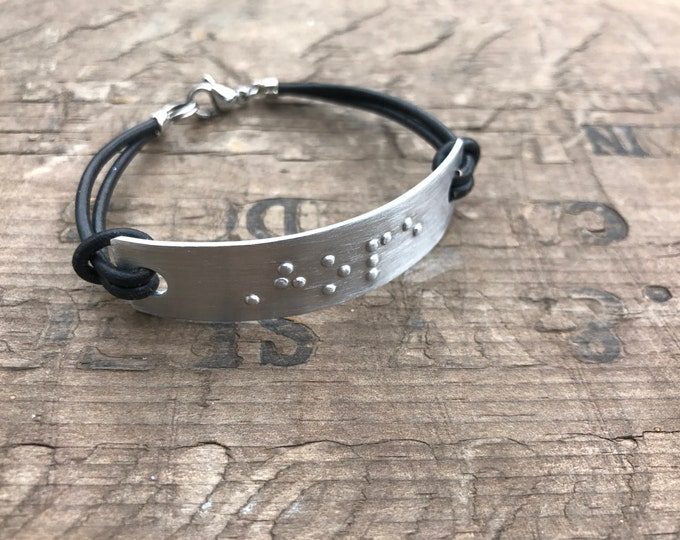Personalized Braille Bracelet Personalized Bracelet Custom Braille Message Friendship Bracelet